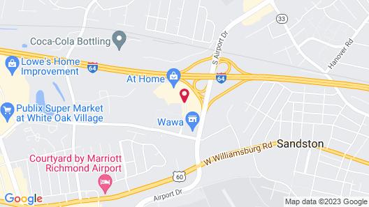 Hampton Inn Richmond Airport Map