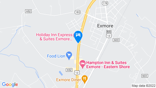 Holiday Inn Express and Suites Exmore, Eastern Shore, an IHG Hotel Map
