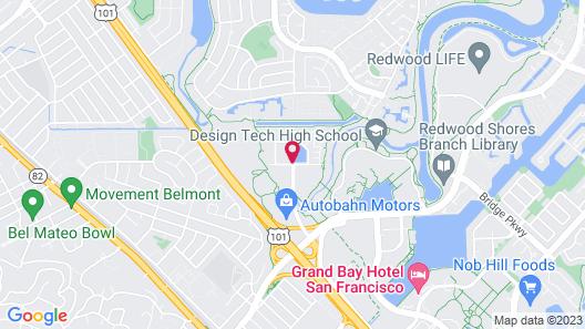 HYATT house Belmont/Redwood Shores Map