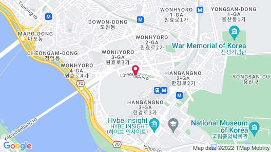 Novotel Ambassador Seoul Yongsan - Seoul Dragon City Map