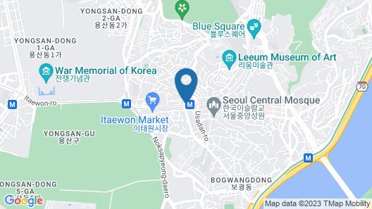 Hamilton Hotel Map