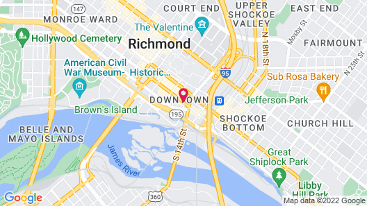 Courtyard by Marriott Richmond Downtown Map
