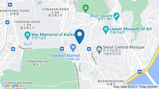 Philstay Itaewon Map