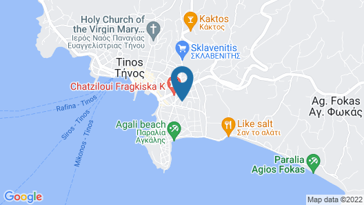 Tinos Aqua Palazzo Map