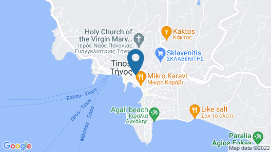 Luxurious Apartment in the Heart of Tinos  Map
