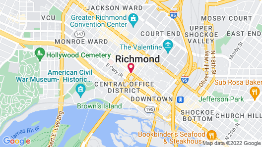 Homewood Suites by Hilton Richmond - Downtown Map