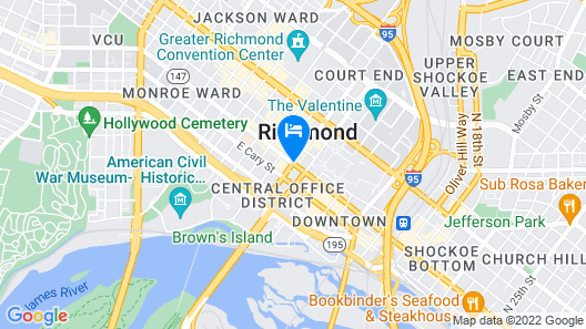 Homewood Suites by Hilton Richmond - Downtown Map