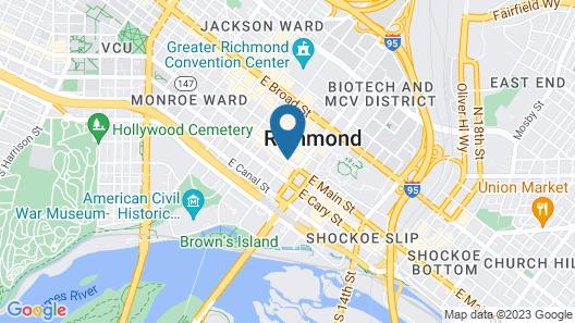 Hampton Inn & Suites Richmond - Downtown Map