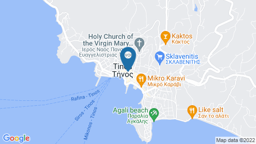 Sophisticated Central House In Tinos Map