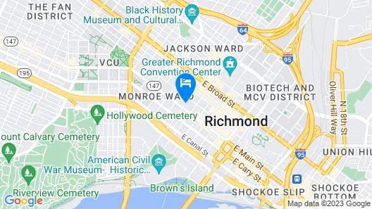 HI Richmond - Hostel Map