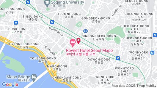 Shilla Stay Mapo Map