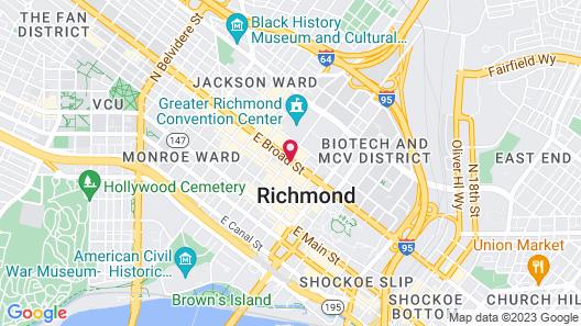Hilton Richmond Downtown Map