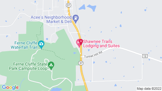 Shawnee Trails Lodging and Suites Map