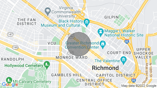 New Heart of the Arts District Penthouse - West Broad MCV VCU Prime Downtown! Map