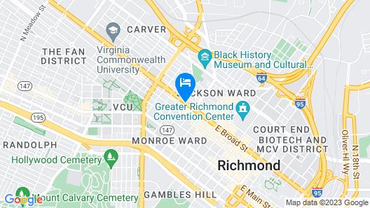 Quirk Hotel Richmond, a Destination by Hyatt Hotel Map