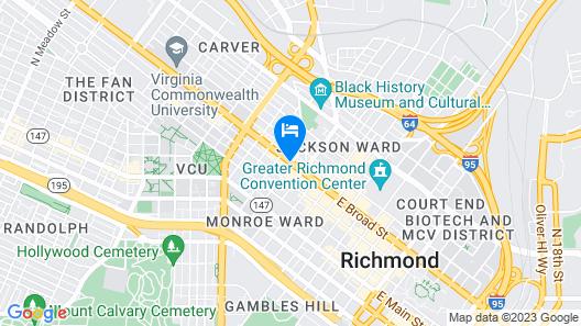 Quirk Hotel Richmond Map