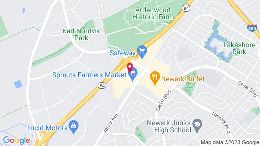 Courtyard by Marriott Newark Silicon Valley Map