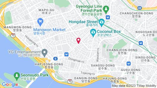 Hotel The Designers Hongdae Map