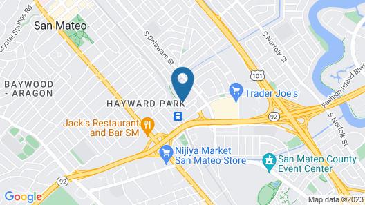 Global Luxury Suites San Mateo Map