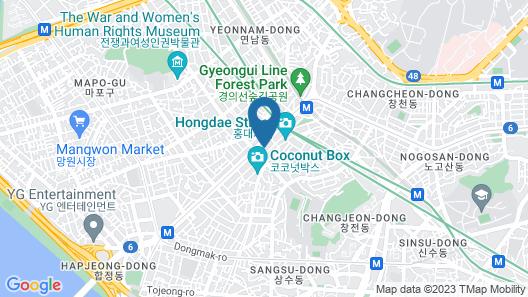 Mercure Ambassador Seoul Hongdae Map