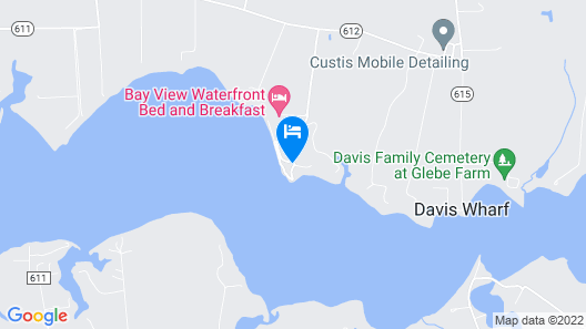Bay View Waterfront Bed and Breakfast Map