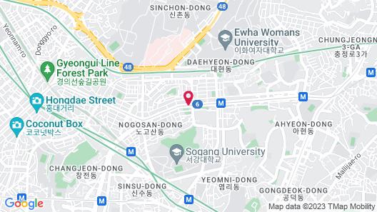 H Avenue Hotel Idae Shinchon Map