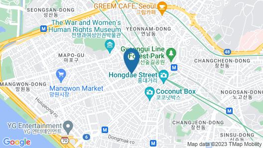 Amanti Hotel Seoul Map