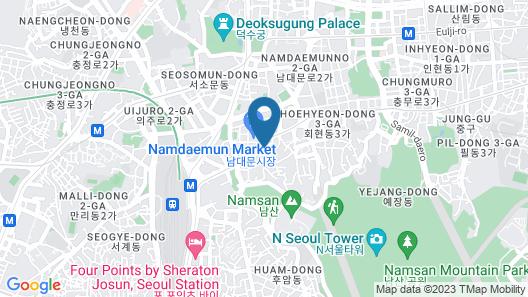Tmark Grand hotel Myeongdong Map
