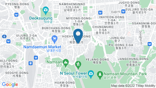 Namsan Forest in Myeongdong Map