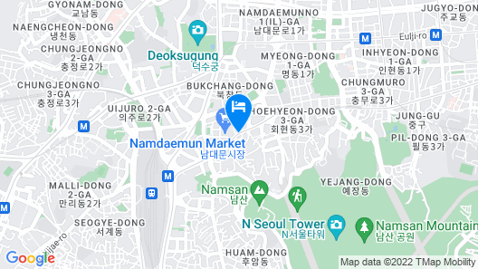 24 Guesthouse Myeongdong Town Map