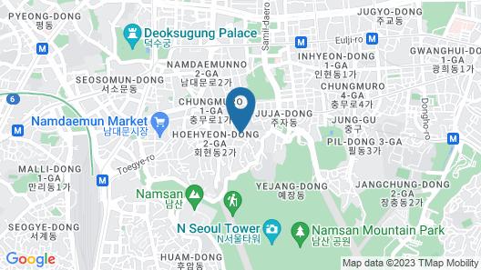 Myeongdong Miss Korea Guesthouse - Hostel Map