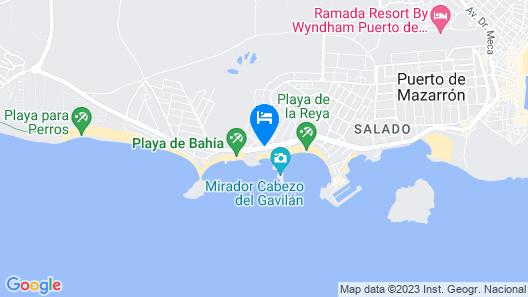 30 Degrees - Hotel Dos Playas Mazarrón Map