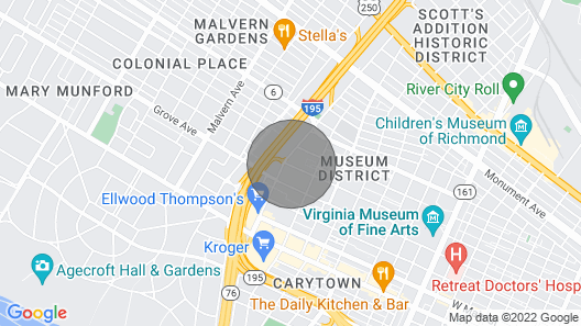 Pet Friendly Stay in Historic Carytown Map