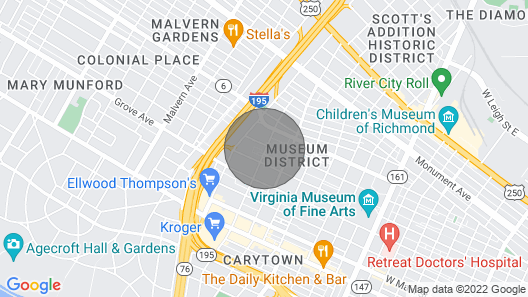 Carytown Stay With Pool and Gym Map