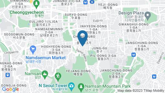 James Joyce Coffetel Elite Seoul (Hotel Double A) Map