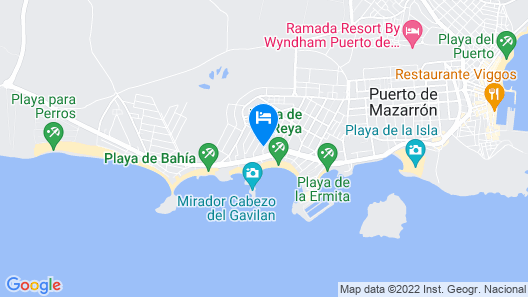 Apartment With 3 Bedrooms in Puerto de Mazarrón, With Terrace and Wifi - 50 m From the Beach Map