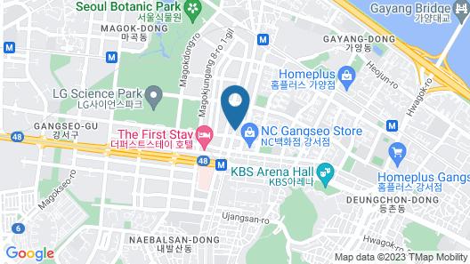 SR Hotel Seoul Magok Map