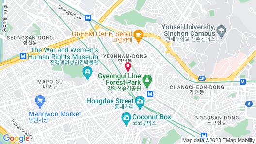 DW Stay Hongdae Map
