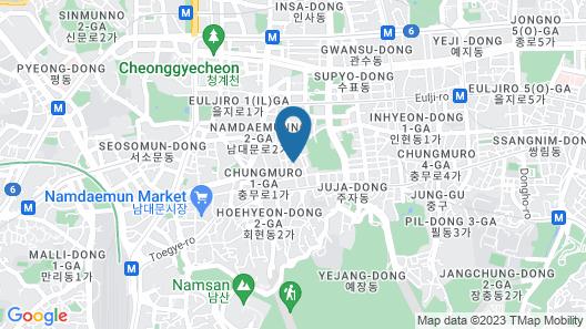 Solaria Nishitetsu Hotel Seoul Myeongdong Map