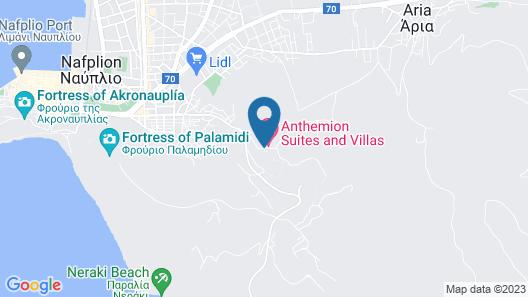 Anthemion Suites & Villas Map