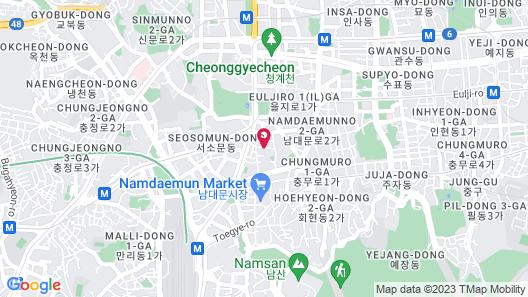 Travelodge Myeongdong City Hall Map