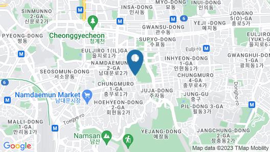 Air Hostel Myeongdong Map
