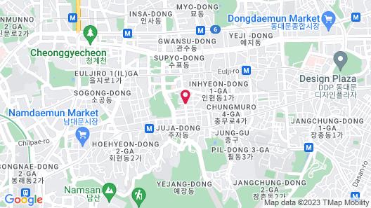 G2 Hotel Myeongdong Map