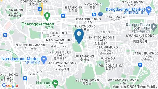 Ehwa in Myeongdong Map