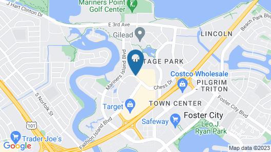 Hilton Garden Inn San Mateo Map