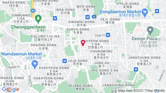 Nine Tree Premier Hotel Myeongdong 2 Map