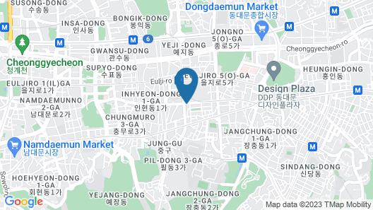 Chisun Hotel Seoul Myeongdong Map