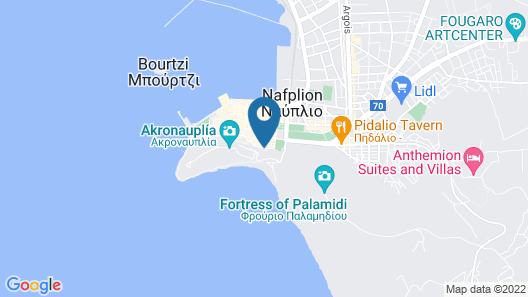Pension Dafni Map
