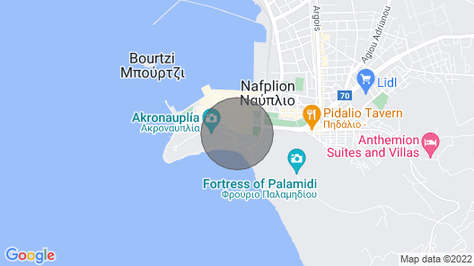 Su Casa Guesthouse in the Heart of Nafplio's old Town Map