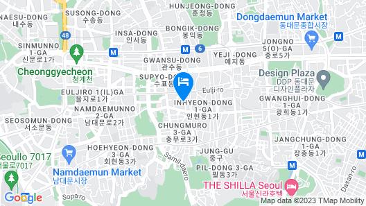 Mmmio II Design Residence Myeongdong Map